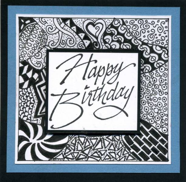 Birthday Zentangles By Mlnapier At Splitcoaststampers