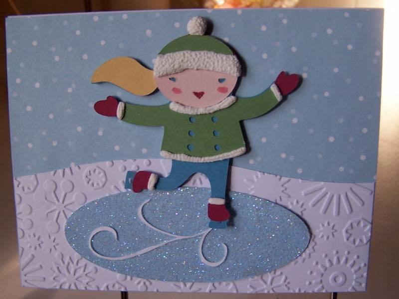Cricut Winter Frolic Card By AmyStamper At