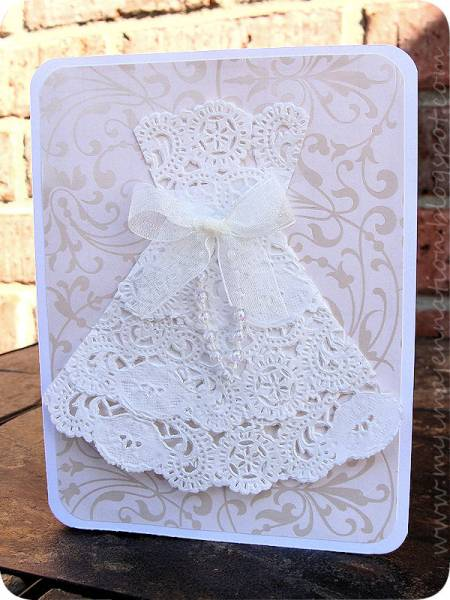 Lacy Doily Dress by myimajennation  at Splitcoaststampers