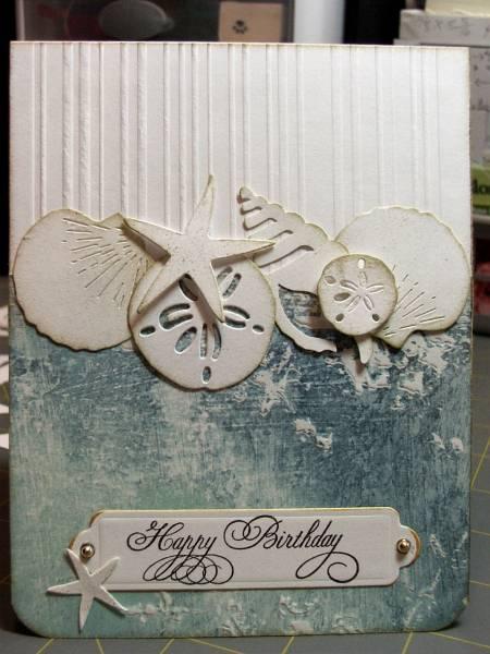 Ocean Shells Birthday By Cardmaker13 At Splitcoaststampers