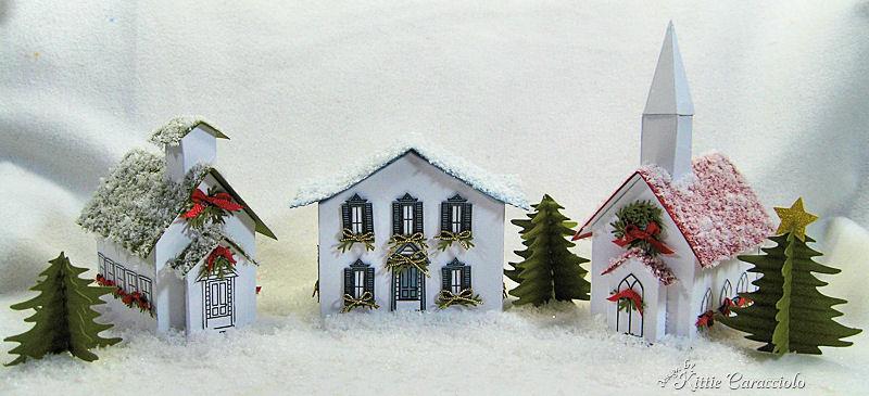 Snowy Winter Village By Kittie747 At Splitcoaststampers