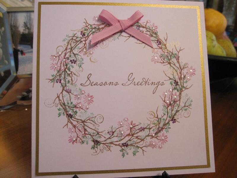 Christmas Wreath By Michele G At Splitcoaststampers