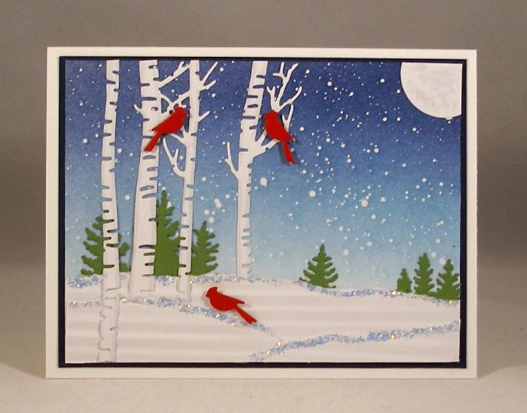 Cardinals In Winterlb By Clownmom At Splitcoaststampers
