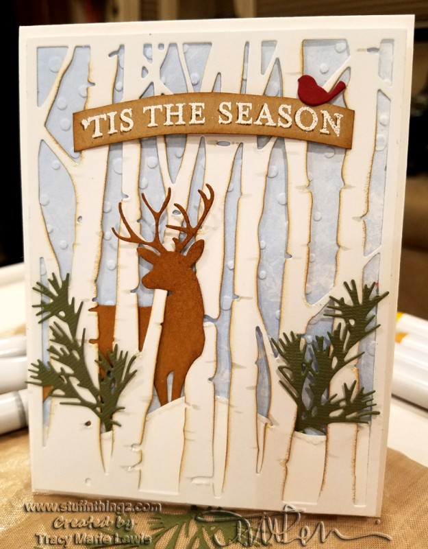 Tis The Season Woodland Deer Card By Zineth At