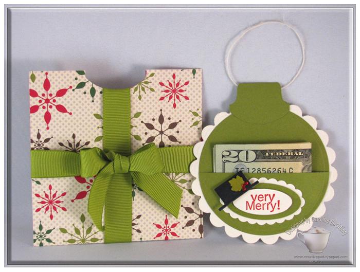 Ornament Money Holder By Craftycaro At Splitcoaststampers