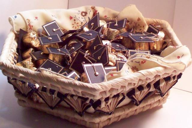 Basket of Rolo Graduation Caps by firequeen  at Splitcoaststampers