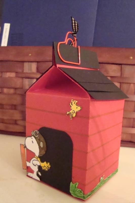 Snoopys Doghouse Milk Carton By Ruby Heartedmom At