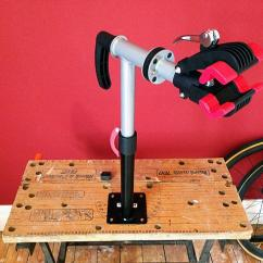 Height Of Kitchen Bench Grey Cabinets Review: Mounted Bike Repair Stand From Bd Bikes ...