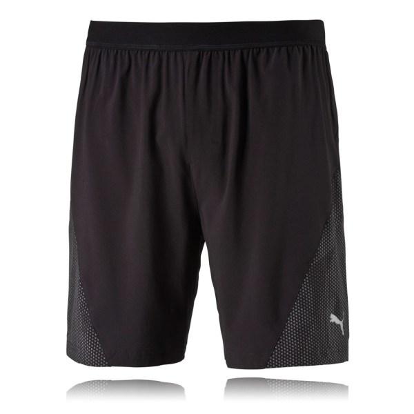 """Puma Nightcat 7"""" Mens Black Running Training Sports Shorts"""