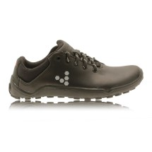 Women's Black Leather Walking Shoes