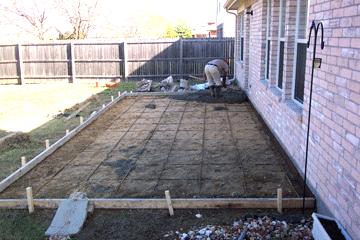 installing decking concrete patios