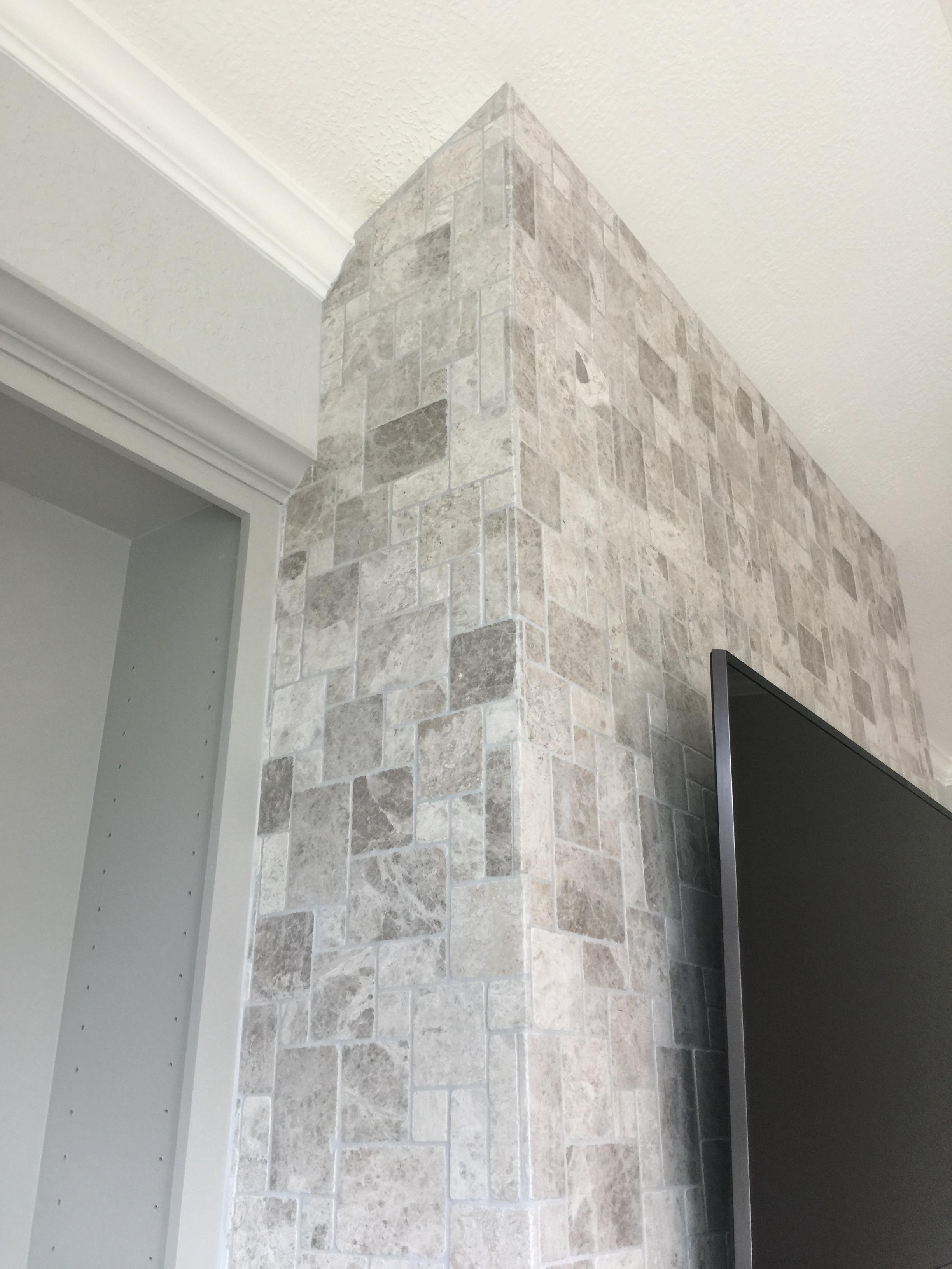 tile or stone cladding