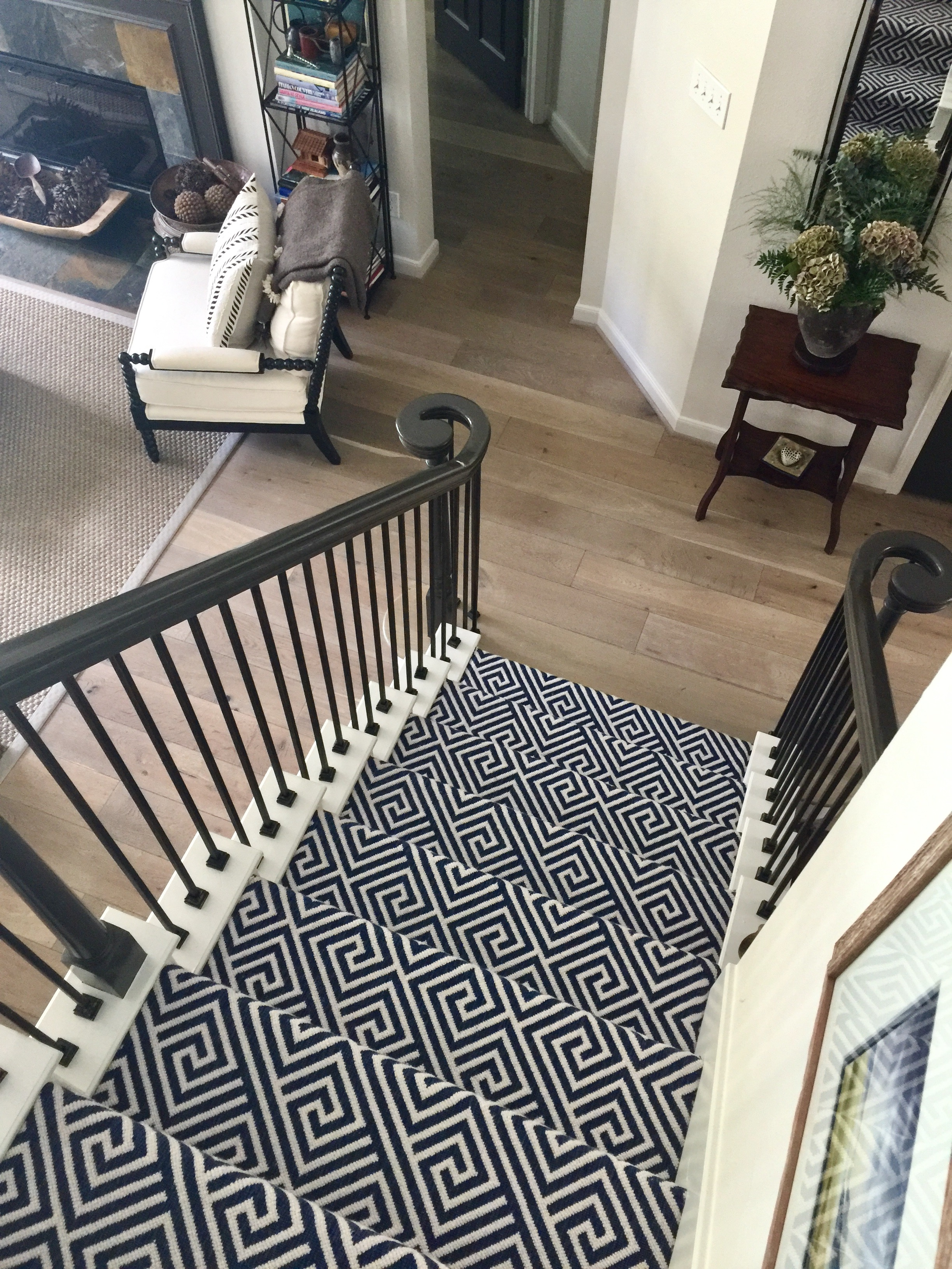 Should I Carpet My Stairs With The Same Carpet I Use Upstairs | Stairs With Carpet In The Middle | Runner Corner | Laminate | Contemporary | Run On Stair | Marble
