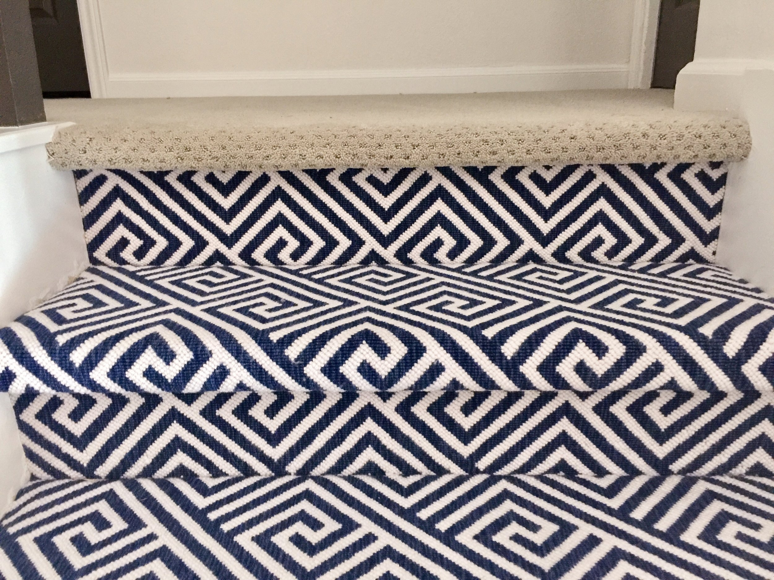 Should I Carpet My Stairs With The Same Carpet I Use Upstairs | Best Kind Of Carpet For Stairs | Stairway | Hardwood | Grey | Stair Runners | Herringbone