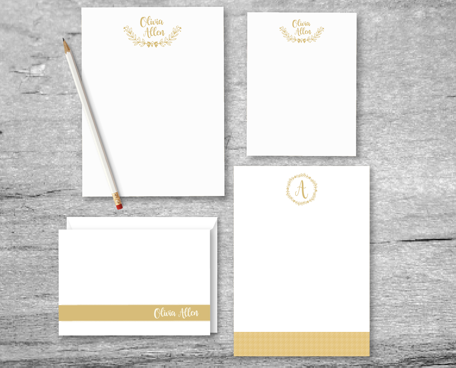 note cards and stationery
