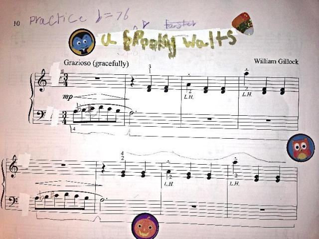 William Gillock's A Graceful Waltz transformed into the halloween classic A Spooky Waltz.