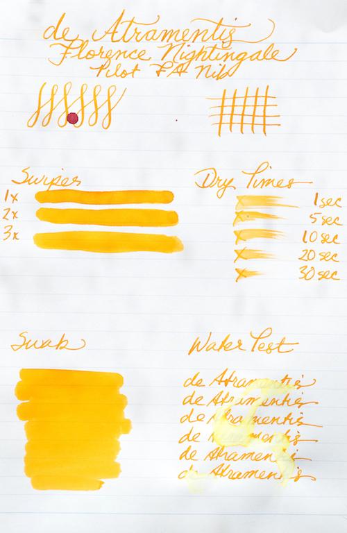 De Atramentis Ink : atramentis, Atramentis, Florence, Nightingale, Apricot, Review, Addict
