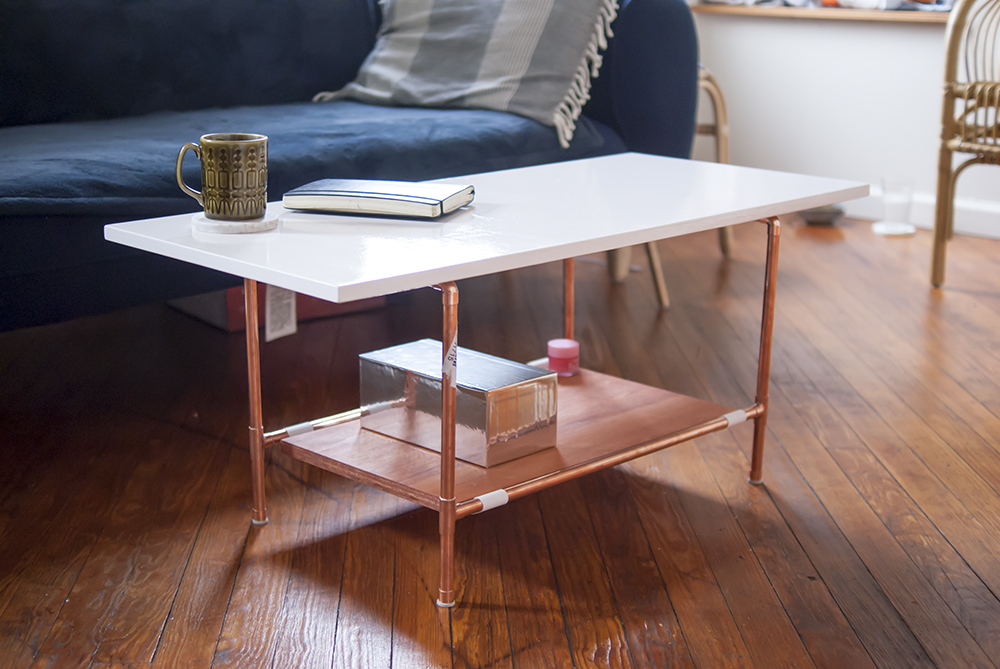 copper pipe diy coffee table fashion