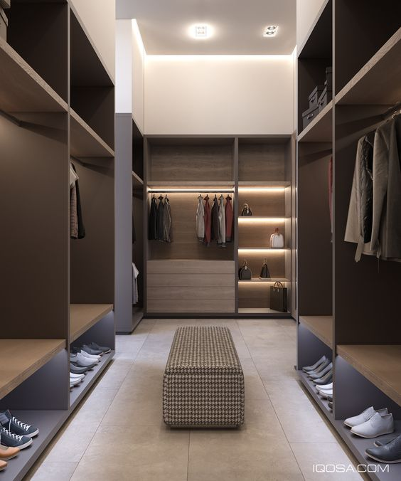 lighting a walk in wardrobe or closet