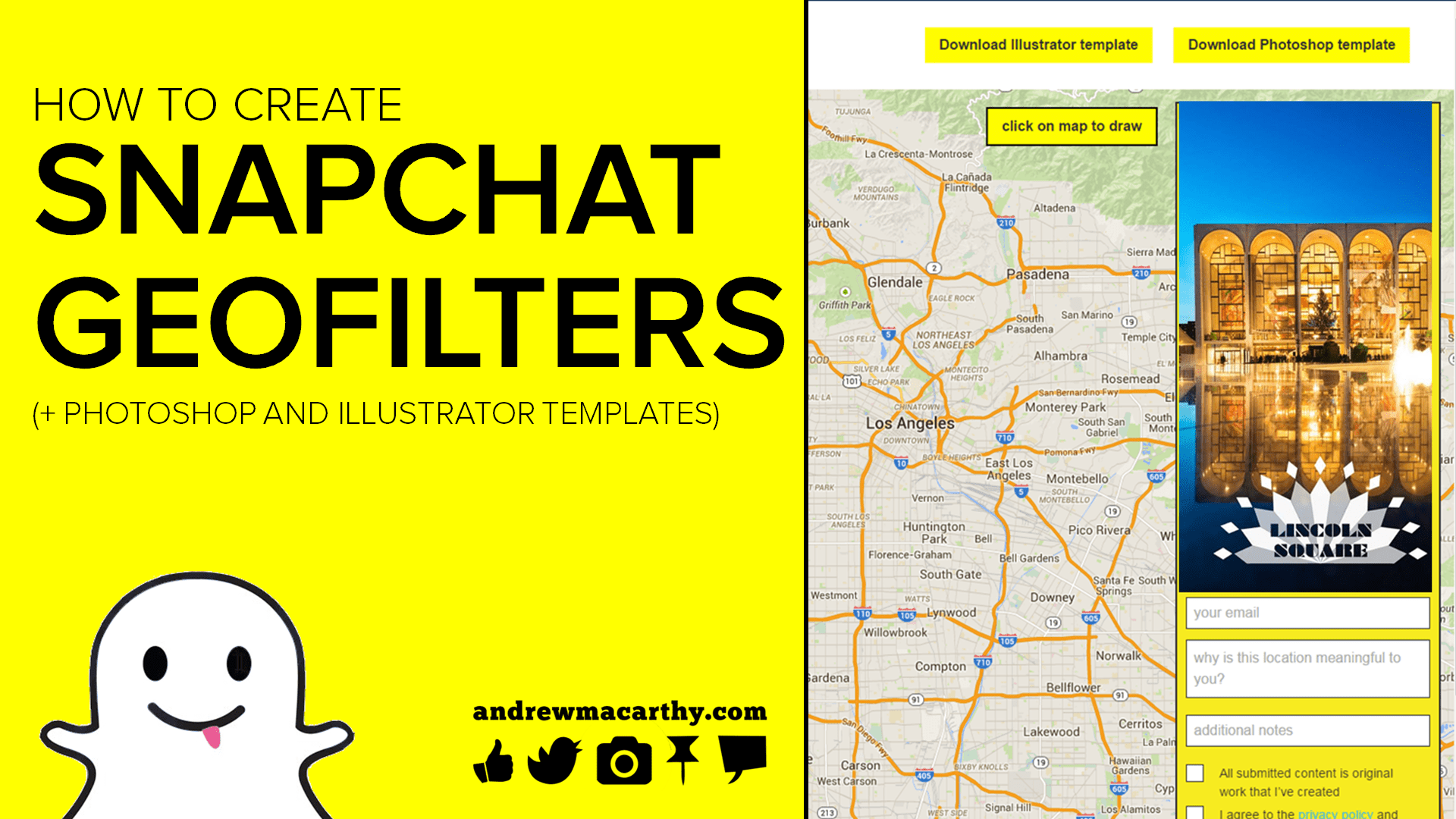 With snapchat no allowing ads and adding more. How To Create A Snapchat Geofilter Tutorial Photoshop Illustrator Templates Psd And Ai Andrew Macarthy Social Media Marketing