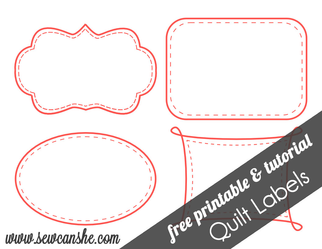 quilt labels free printable