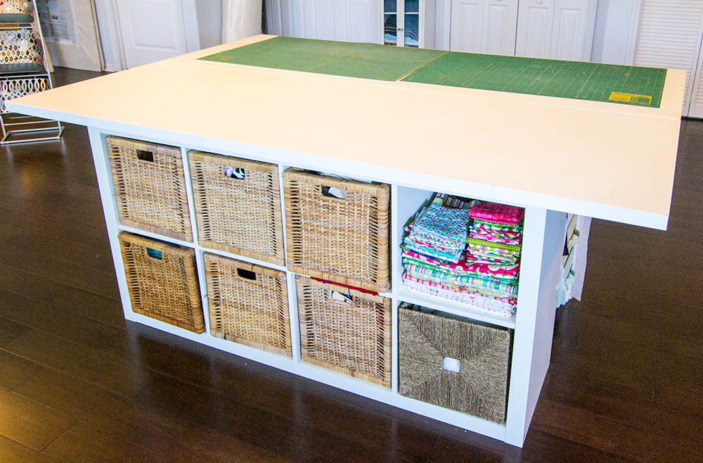 diy sewing and cutting table with