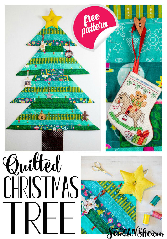 Christmas Tree Quilt : christmas, quilt, Quilted, Christmas, Hanging, Sewing, Pattern!, SewCanShe, Patterns, Tutorials