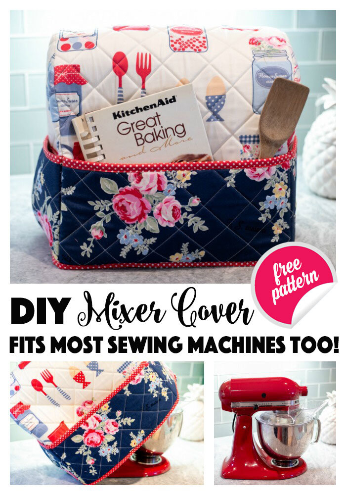 Kitchenaid Stand Mixer Cover Pattern : kitchenaid, stand, mixer, cover, pattern, Mixer, Cover, {Sewing, Machine, Too!}, Sewing, Pattern, SewCanShe, Patterns, Tutorials