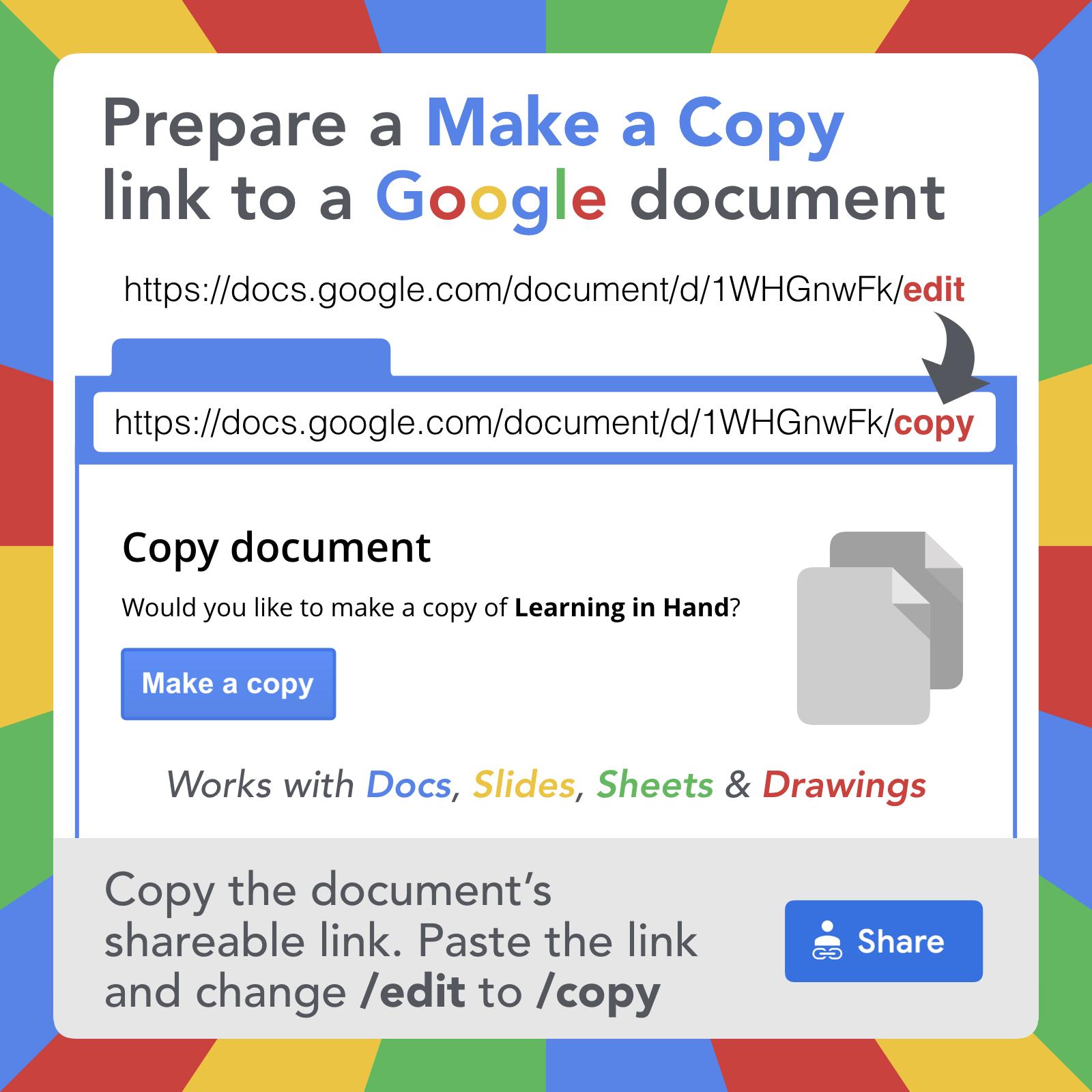 google document url tricks learning