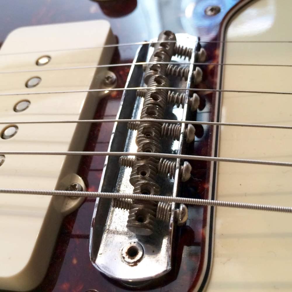 medium resolution of jazzmaster jaguar bridge intonation by adjusting screws at rear