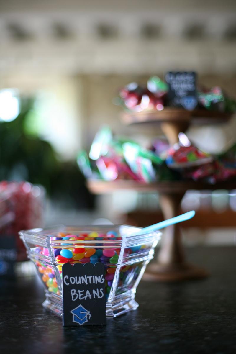 graduation themed candy dessert