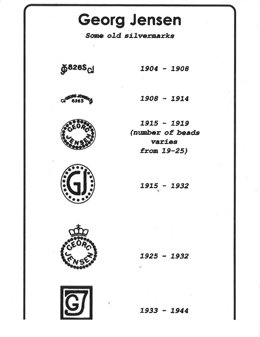 Jewelry Mark : jewelry, Georg, Jensen, Hallmarks, Jensensilver.com