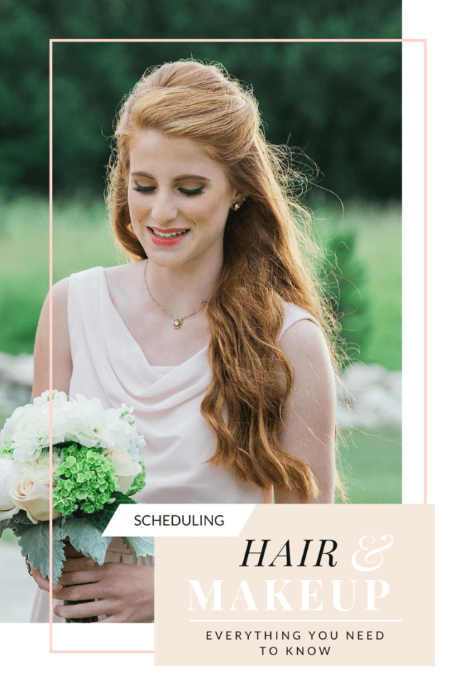 scheduling wedding hair & makeup- what you should know