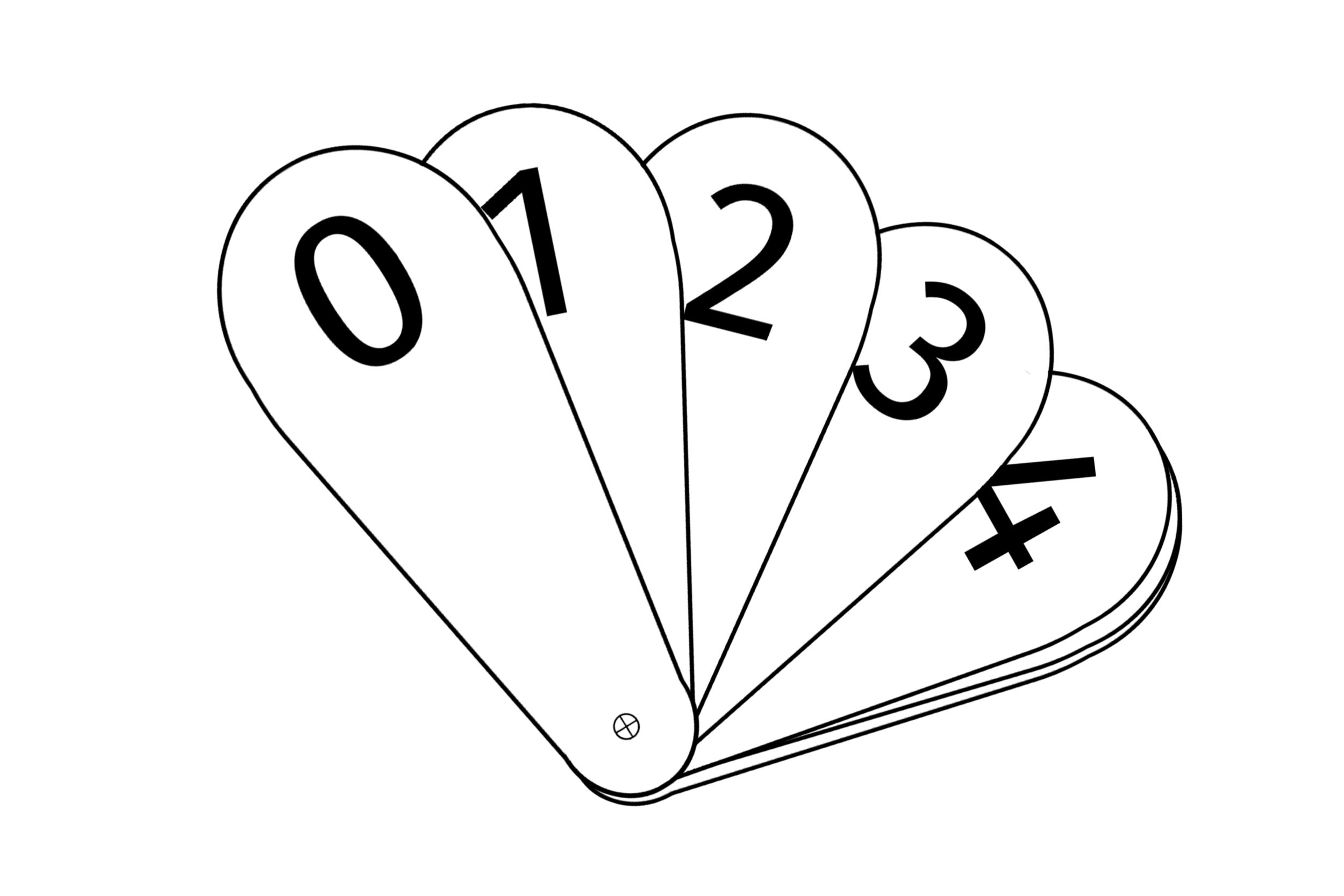 FREE Number Fan 0-9 Early Years (EYFS) Printable Resource