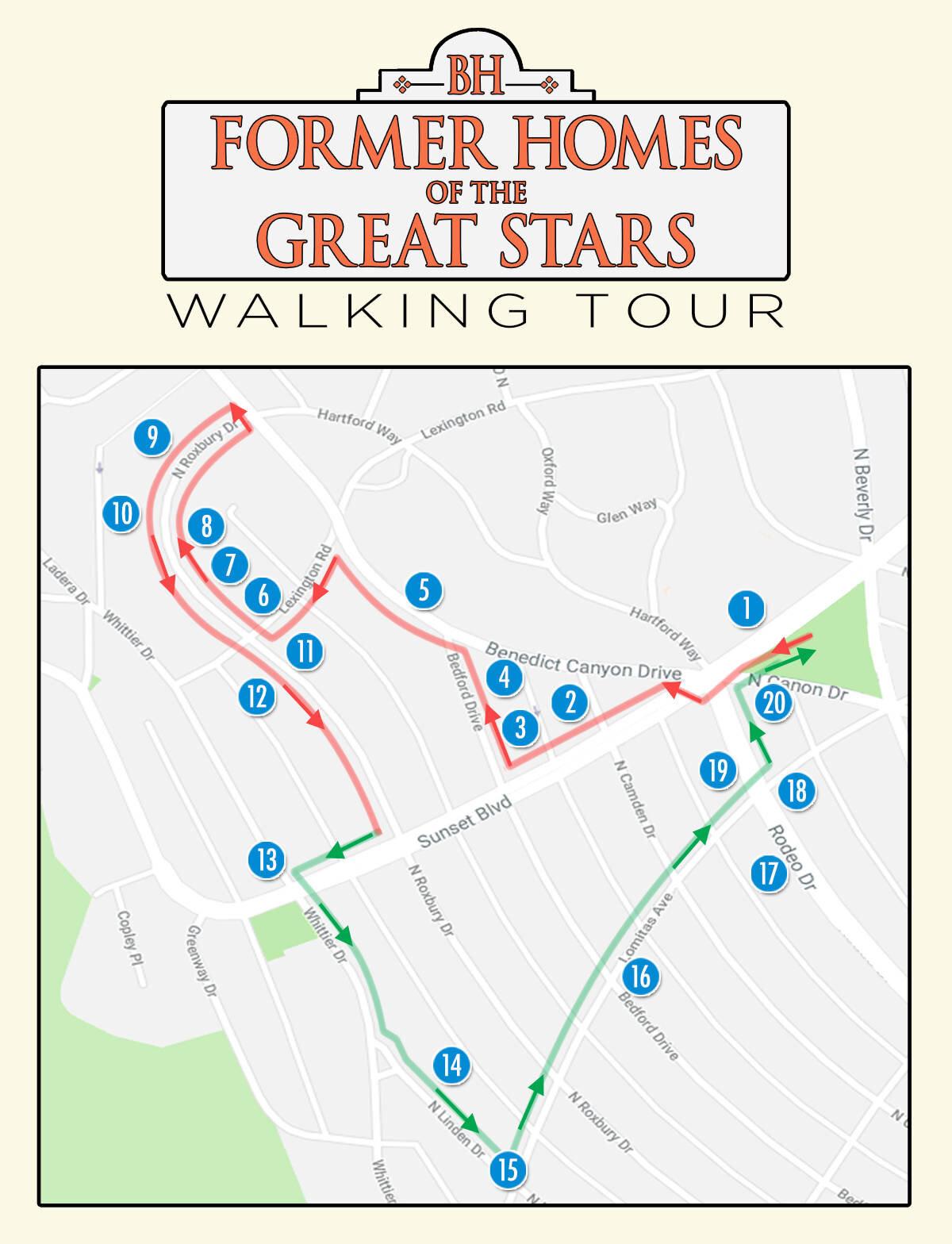Sunset Strip Map : sunset, strip, Beverly, Hills, Homes, Stars, Walking, Historical, Society