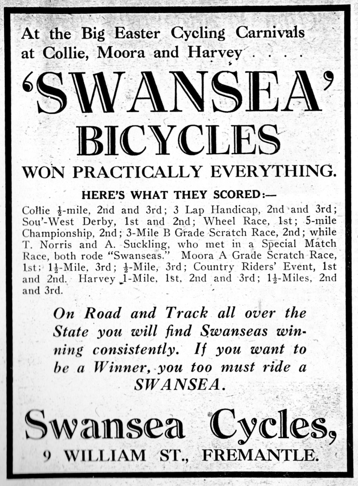WA Historical Cycle Club