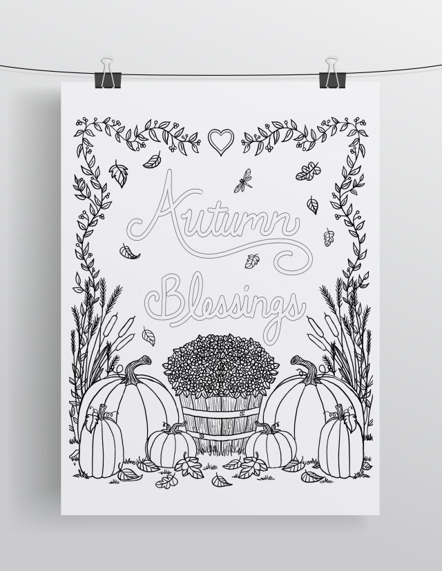 Mommy & Me Coloring Pages, Autumn - FREE DOWNLOAD — Lisa M