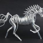 Aluminum Horses Drawn Metal Studios