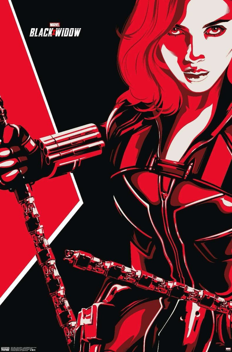 collection of black widow poster art