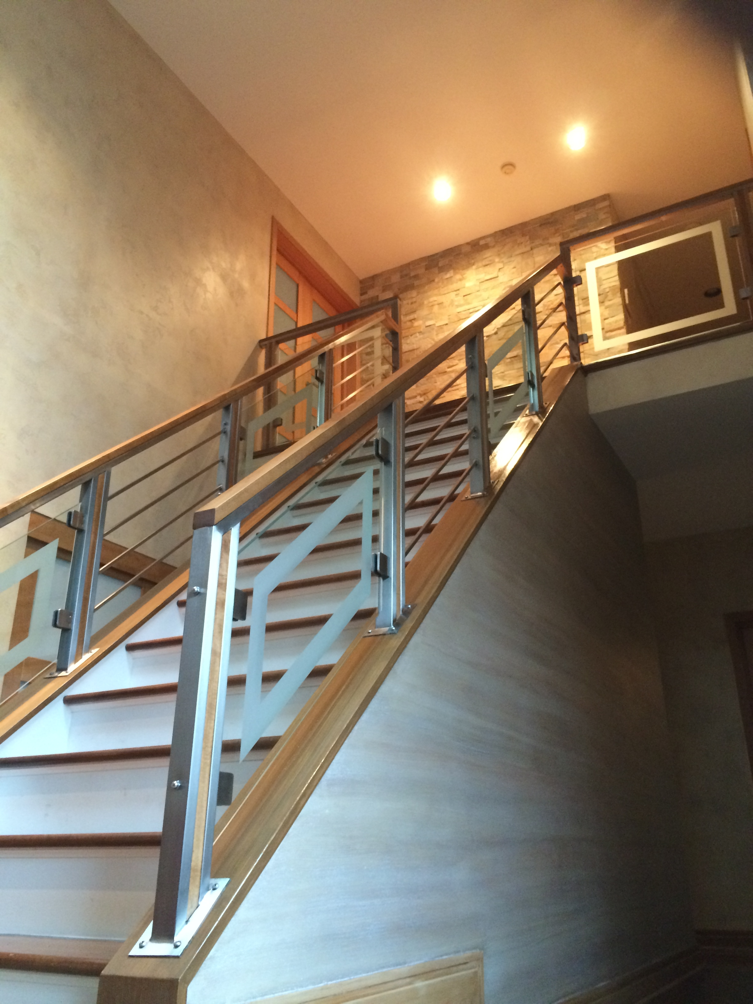 Railings — Capozzoli Stairworks | Glass Hand Railing Design | Fancy | Street Railing | Commercial | Outdoor | Glass Etching
