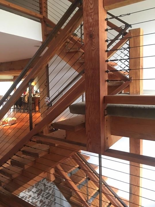 Railings — Capozzoli Stairworks   Wood And Cable Stair Railing   Stairway   Wrought Iron   Staircase Railing   White   Vertical