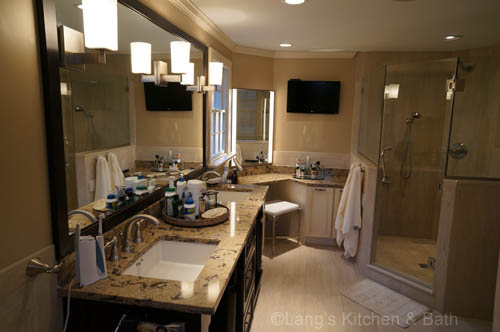 how to make space for a bathroom vanity