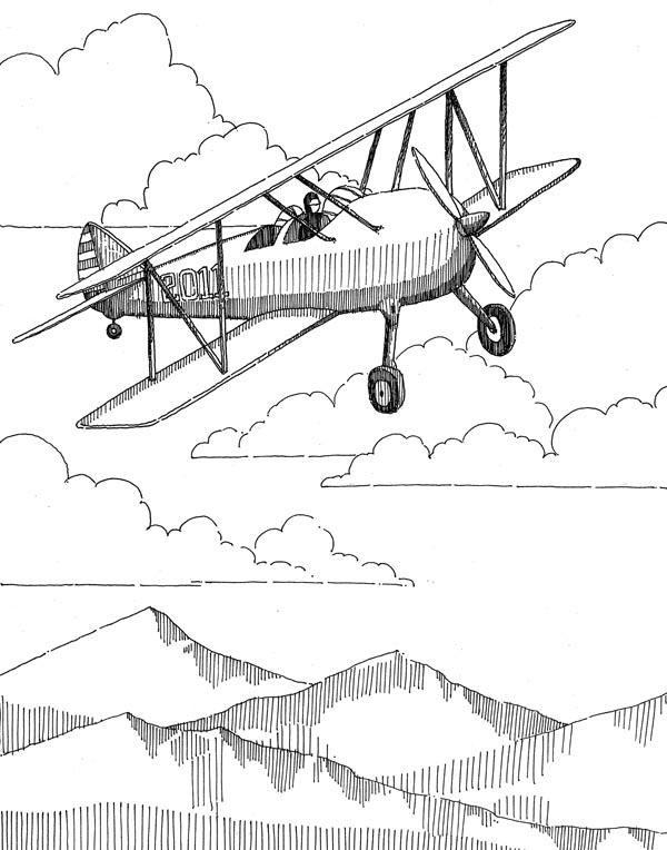 Small Airplane Drawing : small, airplane, drawing, Airplane, Sketch, (11x14