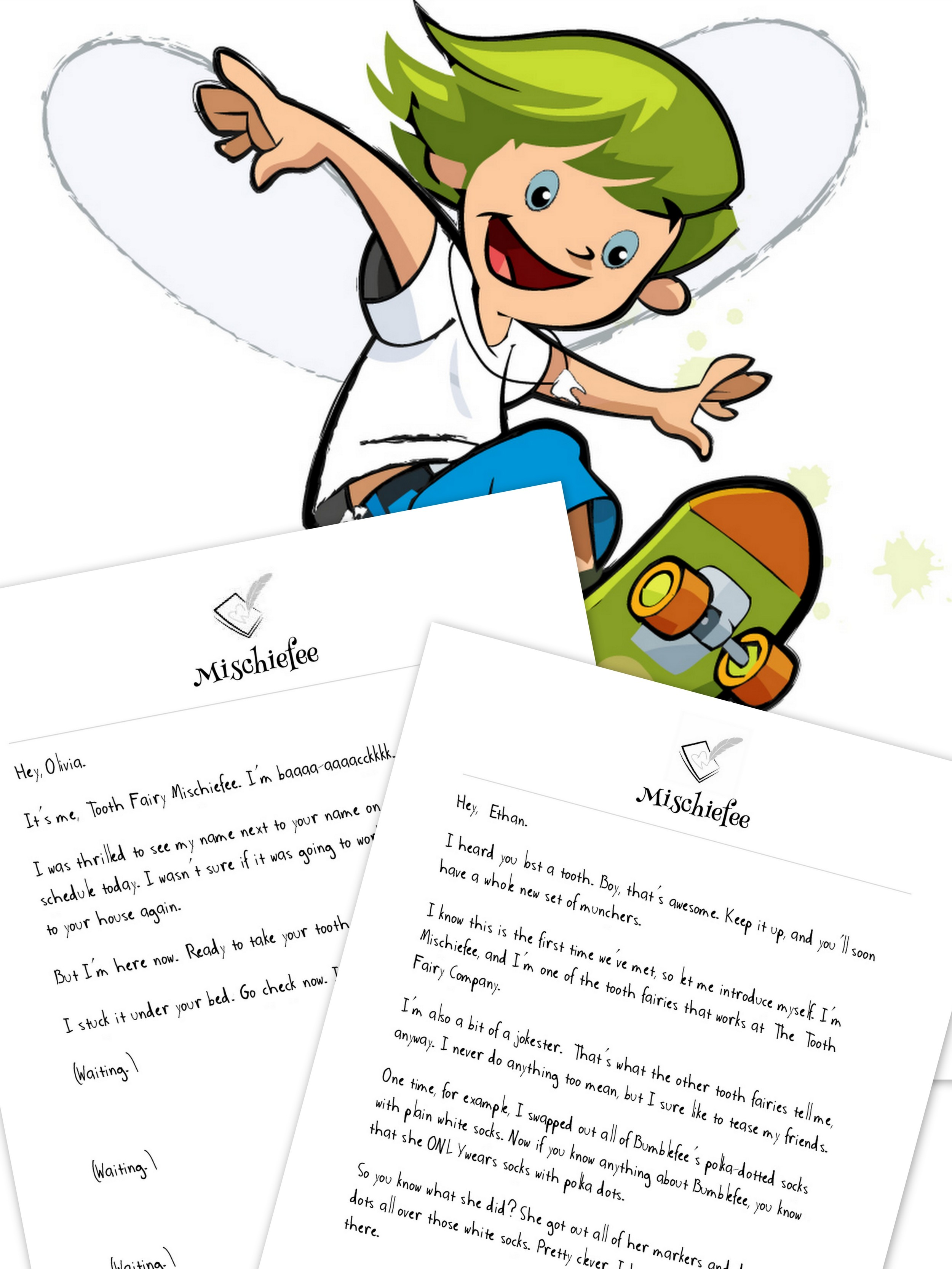 mischiefee letter bundle 2 teeth losses letters from a tooth fairy