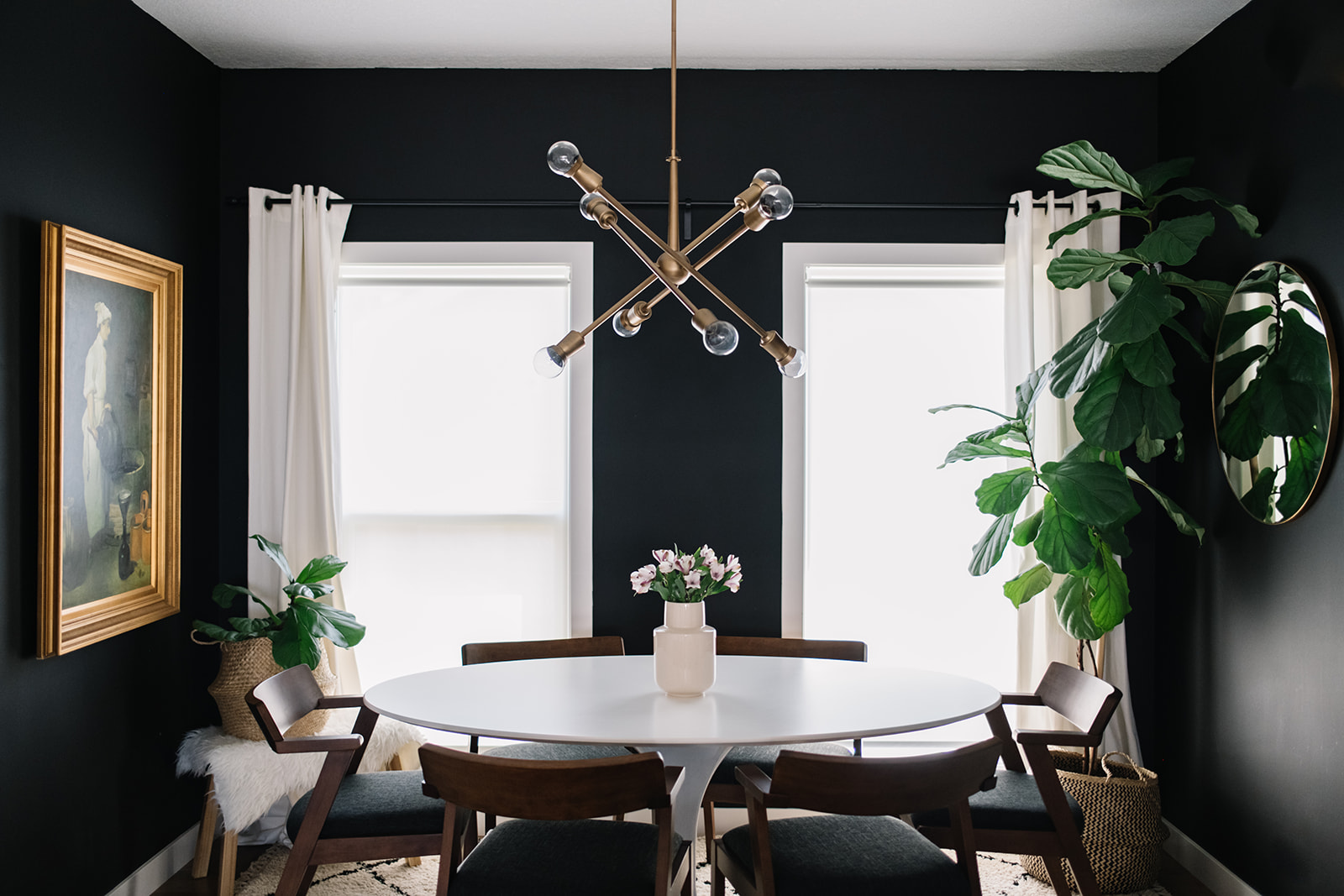 Black White Walnut Our Dining Room Refresh With The Article Zola Dining Chair 204 Park