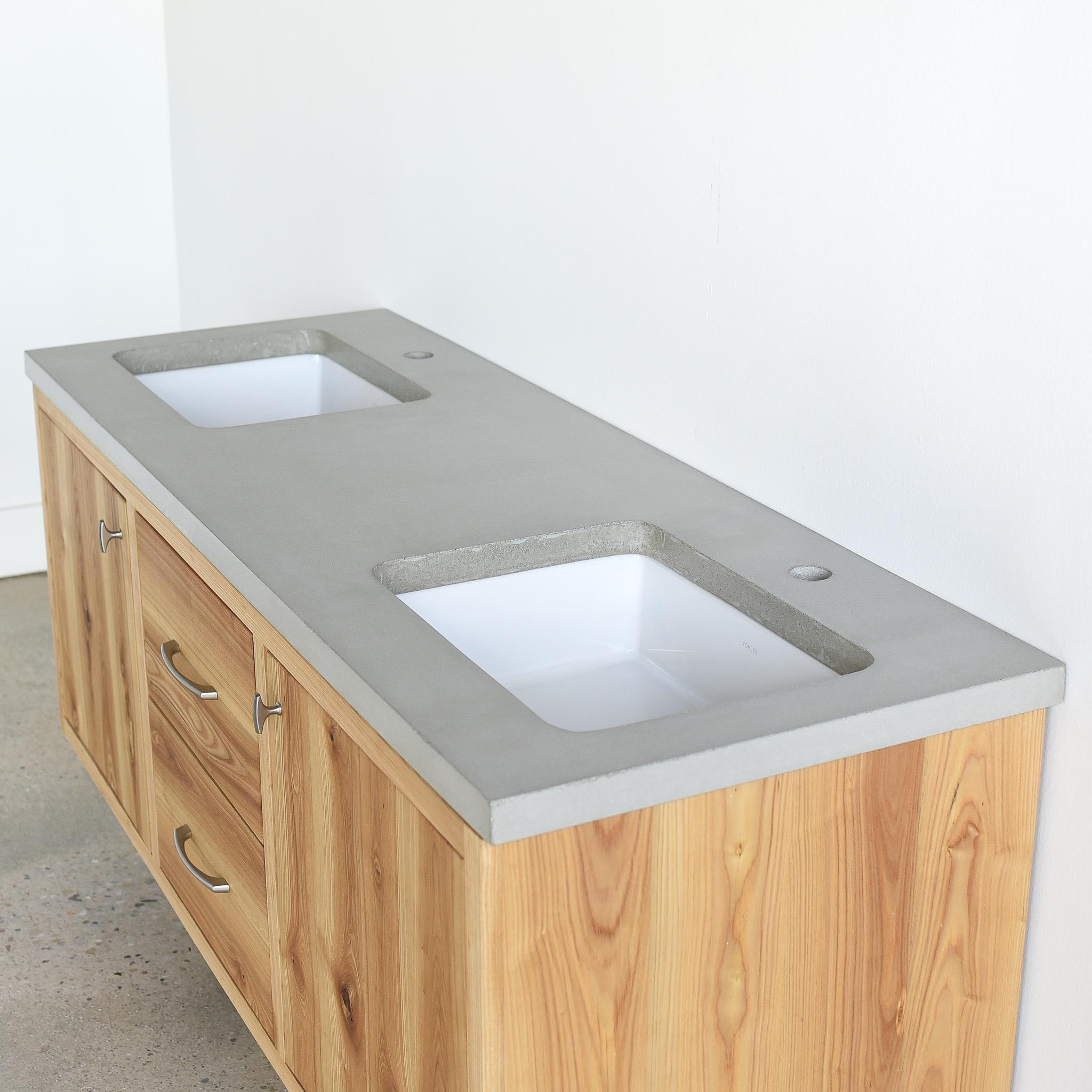 60 floating reclaimed wood vanity double sink what we make