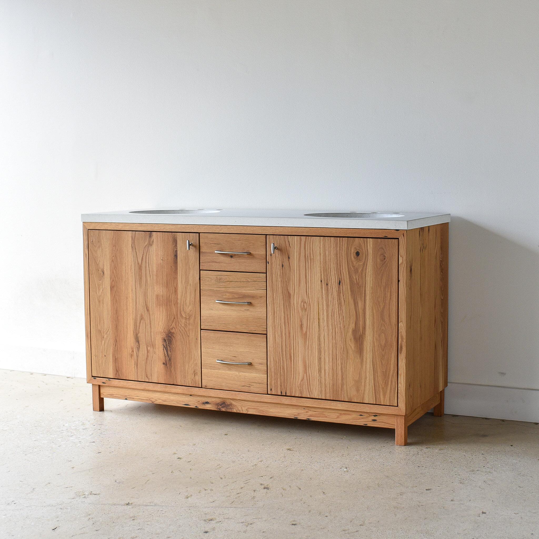60 modern reclaimed wood vanity double sink what we make