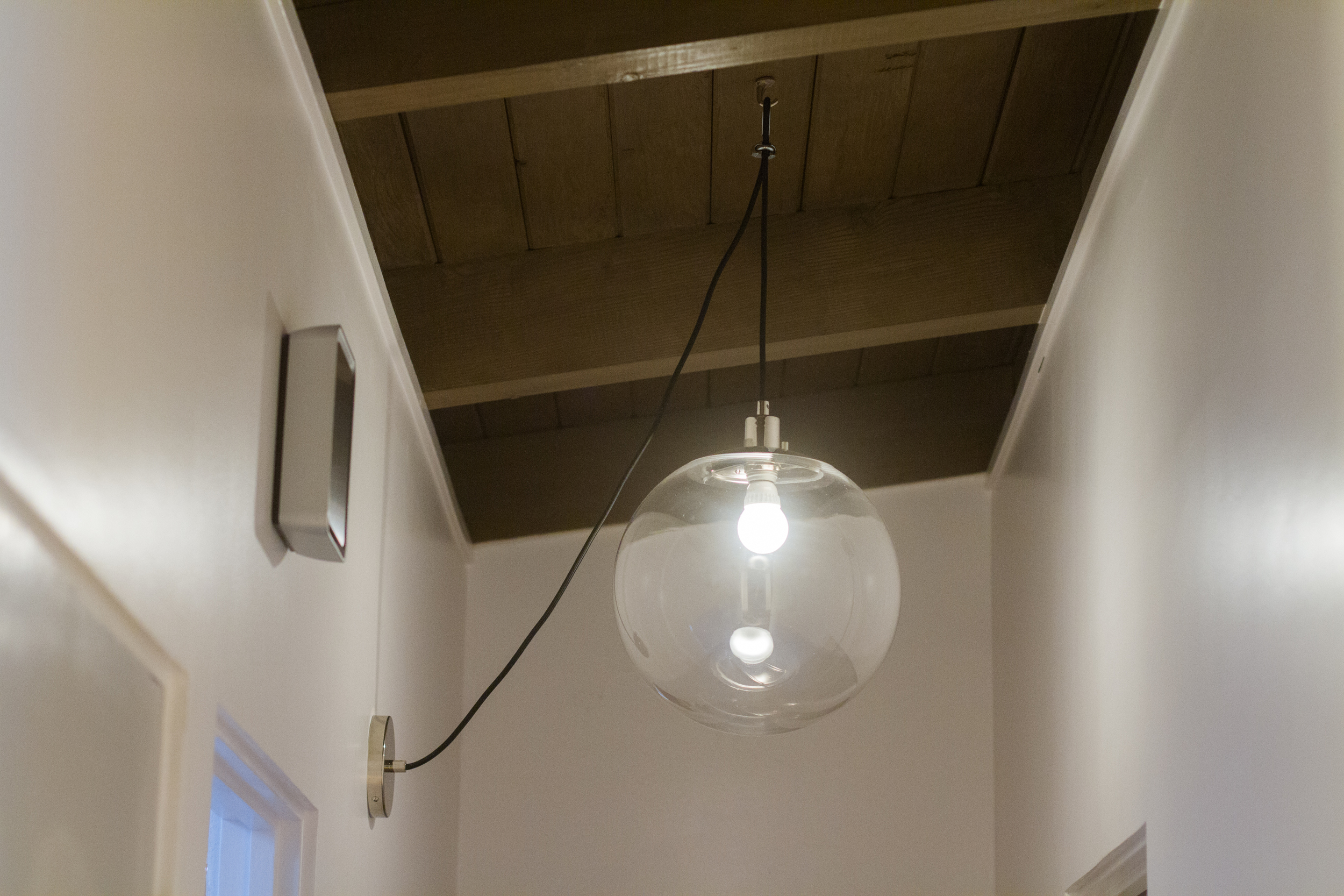 to swag a pendant light without a chain