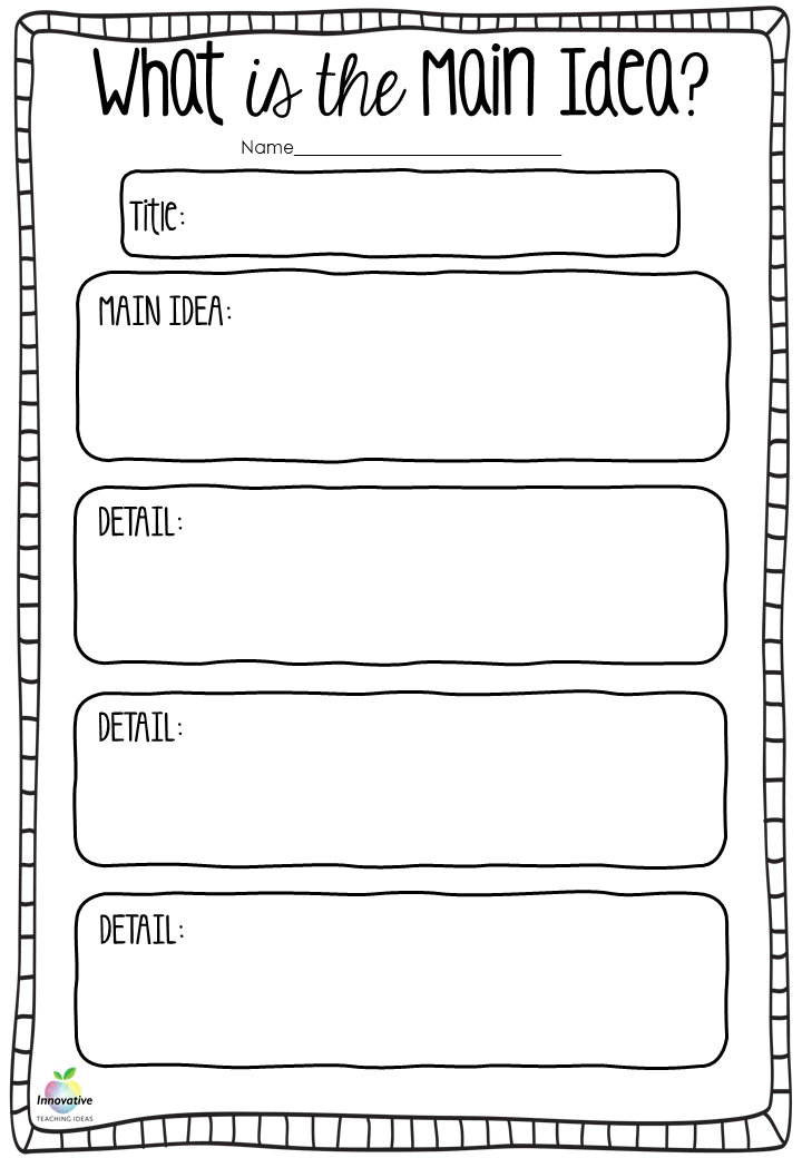 Teaching students the main idea when reading — Literacy Ideas