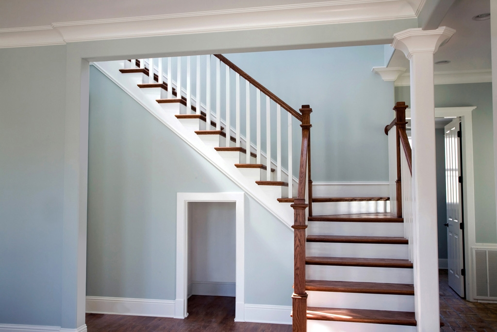 Wood Collections — Regency Stair Parts   Red Oak Stair Railing   Inside   2 Tone   Beautiful   Color   Two Toned